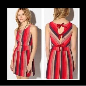 New Urban Outfitters Cooperative Striped Red Dress